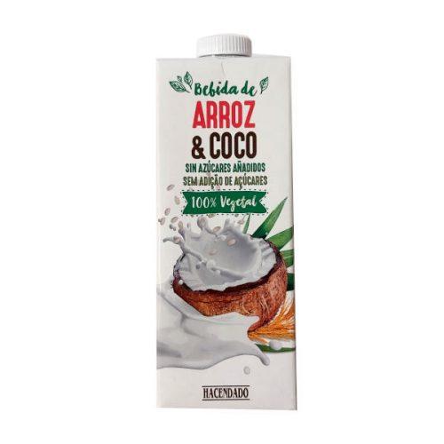 Bebida de arroz y coco de Mercadona (Hacendado)