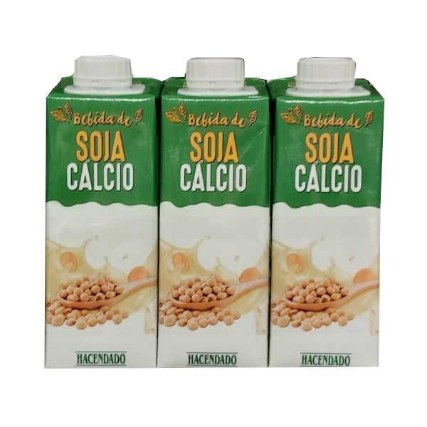 Bebida de soja Mercadona - Pack de 3 - Formato individual