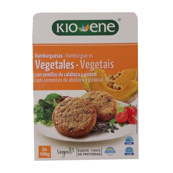 Hamburguesas vegetales de pipas de calabaza y girasol Kio Ene