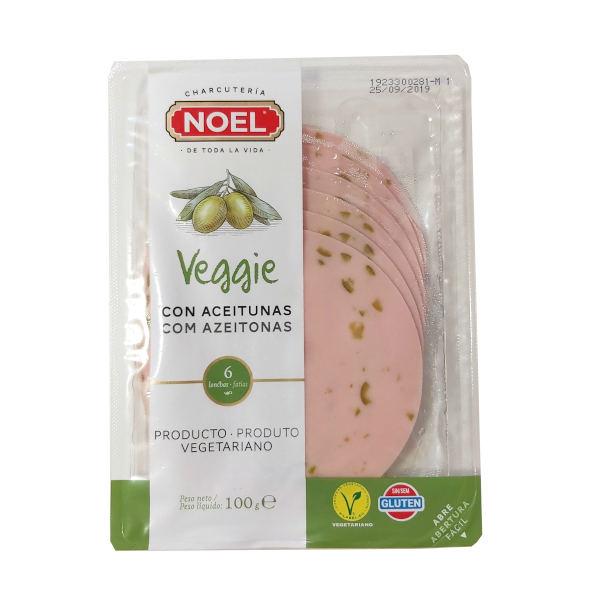 Mortadela vegetariana con aceitunas (Noel)