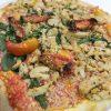 Detalle de la pizza vegana Mercadona preparada