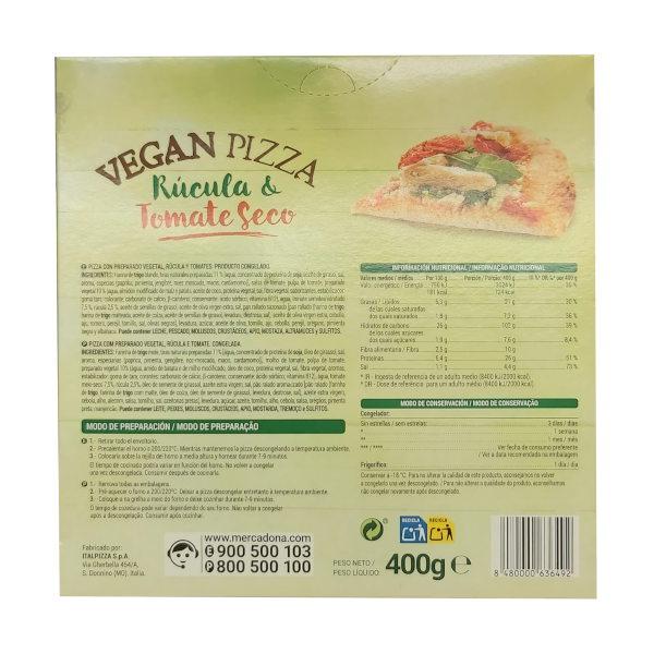 Pizza Vegana tomate y rúcula Mercadona