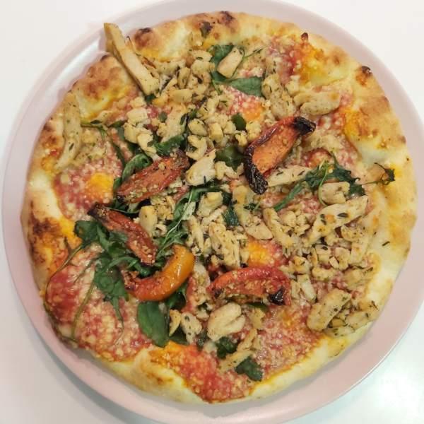 Pizza vegana Mercadona hecha al horno