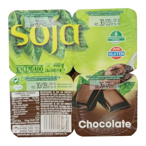 Yogur Soja Chocolate Mercadona