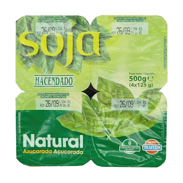 Yogur Soja Natural (Mercadona)