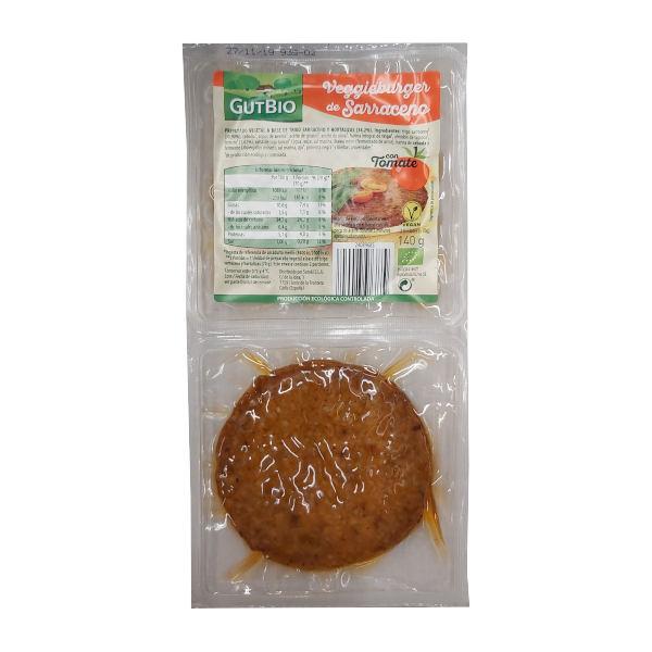 Hamburguesa vegetal Aldi Gutbio Trigo Sarraceno y Tomate