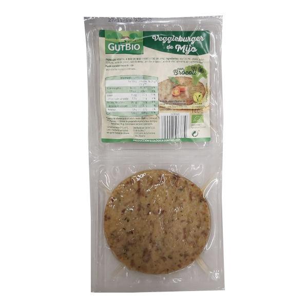 Hamburguesa vegetal Aldi Gutbio Mijo y Brocoli