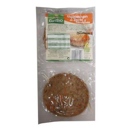Burger vegetal de seitán y verduras