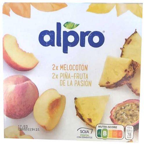 Yogur Alpro Fruta de la pasión y melocotón