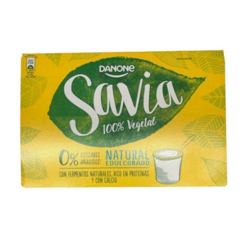 Yogur de soja Danone de su línea de yogures vegetales Savia