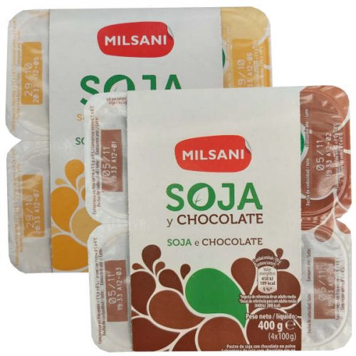 Yogures de soja Aldi (Milsani)