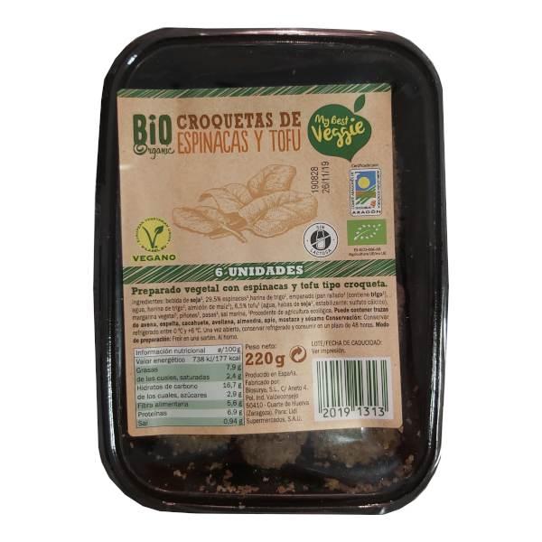 Croquetas veganas Lidl de espinacas y tofu