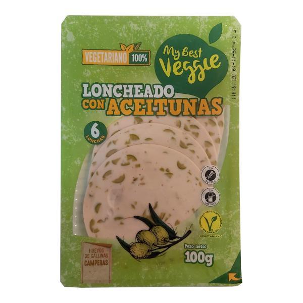 Embutido vegetariano Lidl con aceitunas