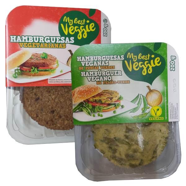 Hamburguesas vegetales (Lidl)
