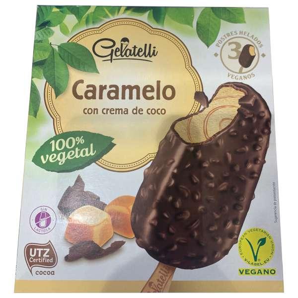 Helado vegano Lidl Caramelo (marca Gelatelli)