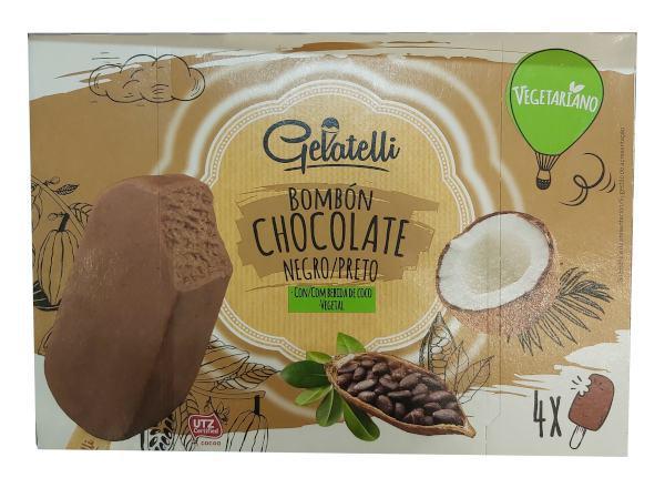 Helado vegano Lidl de chocolate negro (Gelatelli)