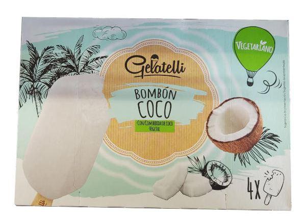 Helado vegano Lidl de coco (Gelatelli)