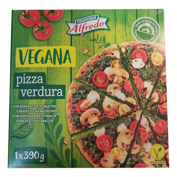 Pizza vegana Lidl de verdura