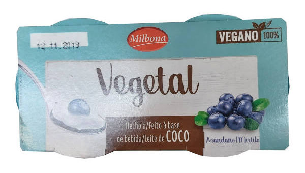 Yogur vegetal Lidl de arándanos