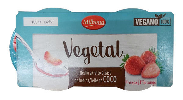 Yogur vegetal Lidl de fresa