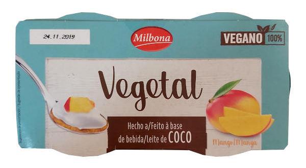 Yogur vegetal Lidl de mango