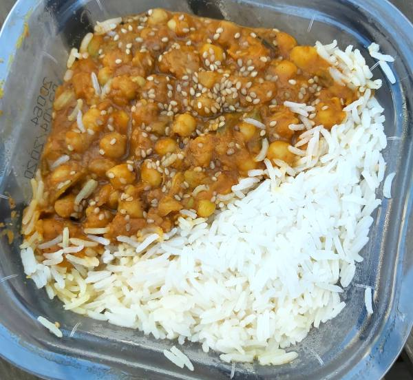 Arroz con curry vegano de Gudmudfud (Lidl)