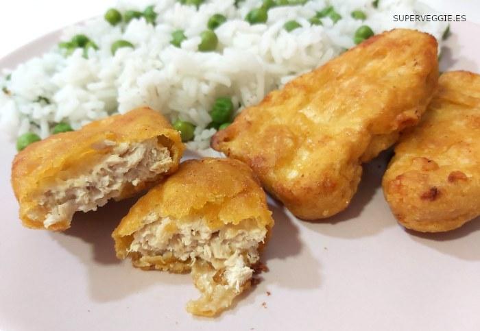Pescado vegano Golden Fishless Filets de Gardein cocinados la horno