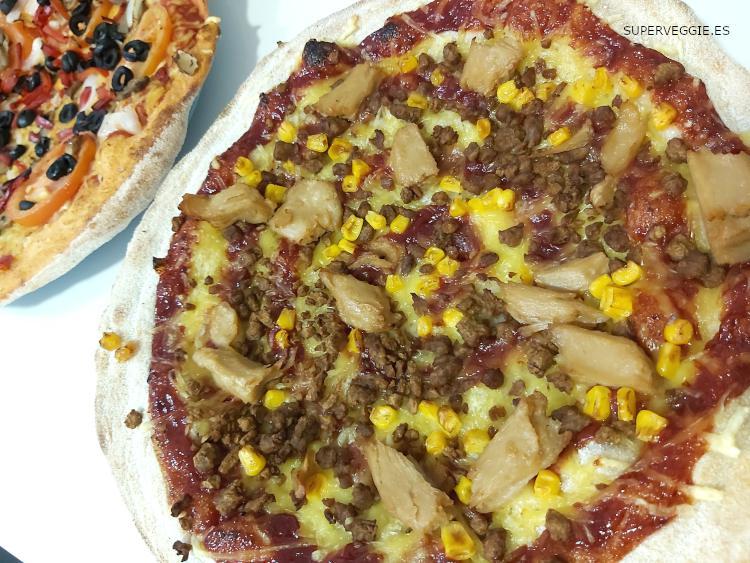 Telepizza vegano: La Barbacoa Vegui