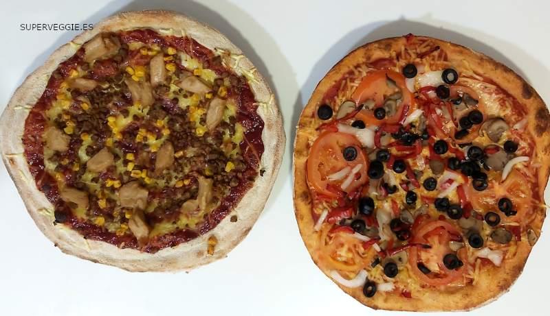 Telepizza vegano: pizzas barbacoa y campesina veganas