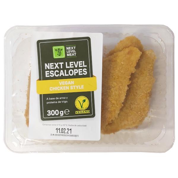 Escalopes veganos 'pollo' (Lidl)