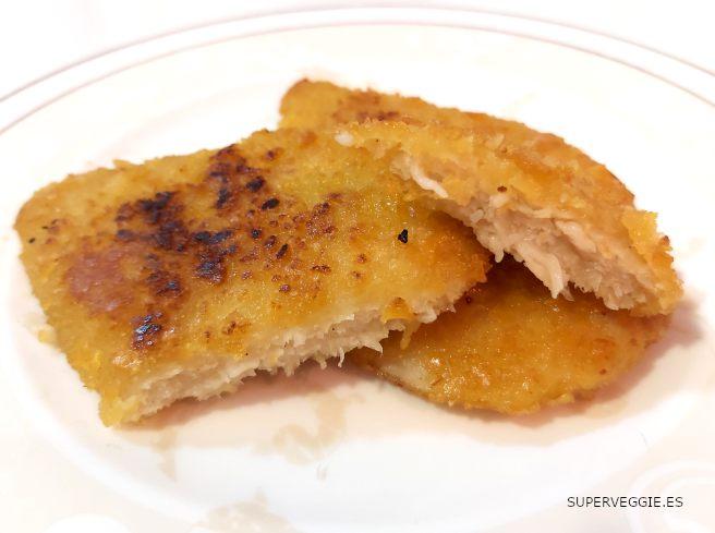 Escalopes veganos Next Level de Lidl estilo pollo cocinados