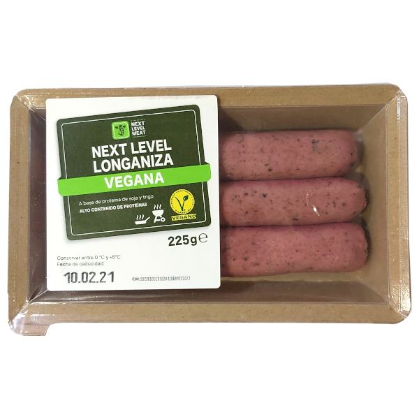 Bratwurst salchicha vegana Lidl (Next Level Meat)