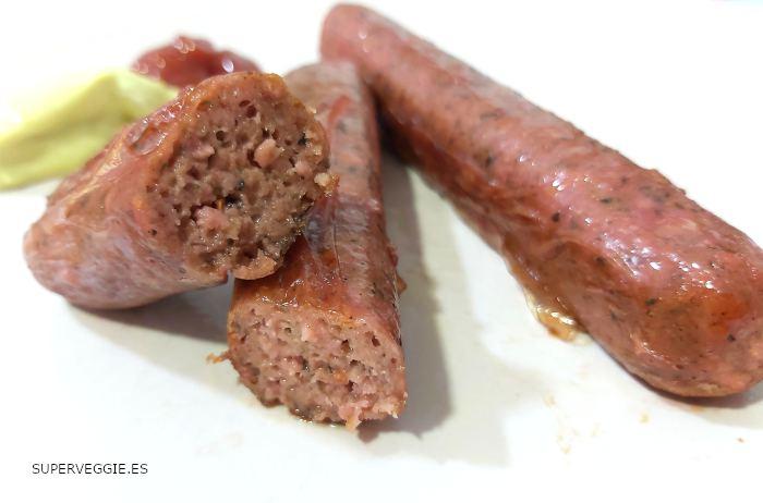 Longaniza vegana Lidl (Next Level Meat)