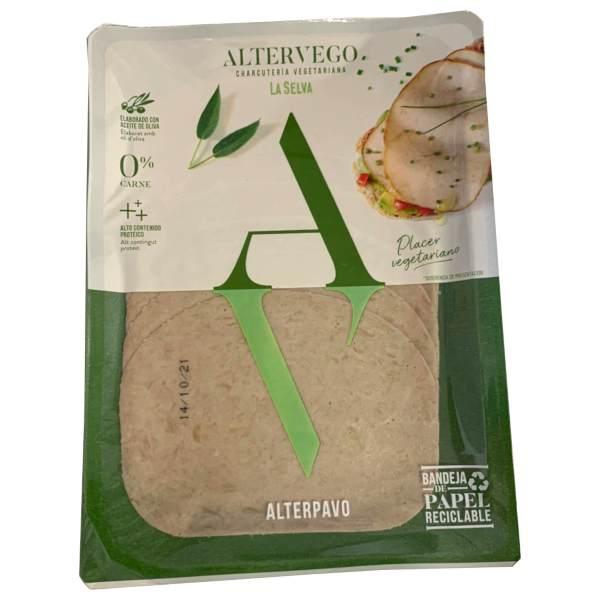 Lonchas de pavo vegetariano AlterPavo de AlterVego (La Selva)