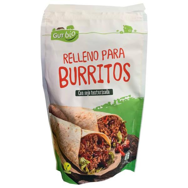 Relleno para burritos vegano de Aldi (GutBio) con soja texturizada